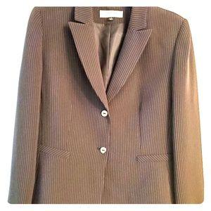 Tahari By ASL Brown Pinstripe Skirt Suit  12